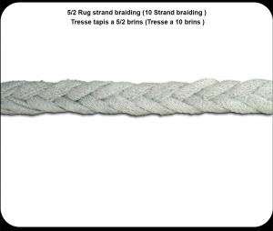 5/2 Rug strand braiding
